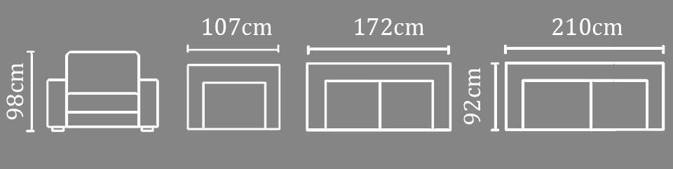 sofa malaysia tera bảng kích thước