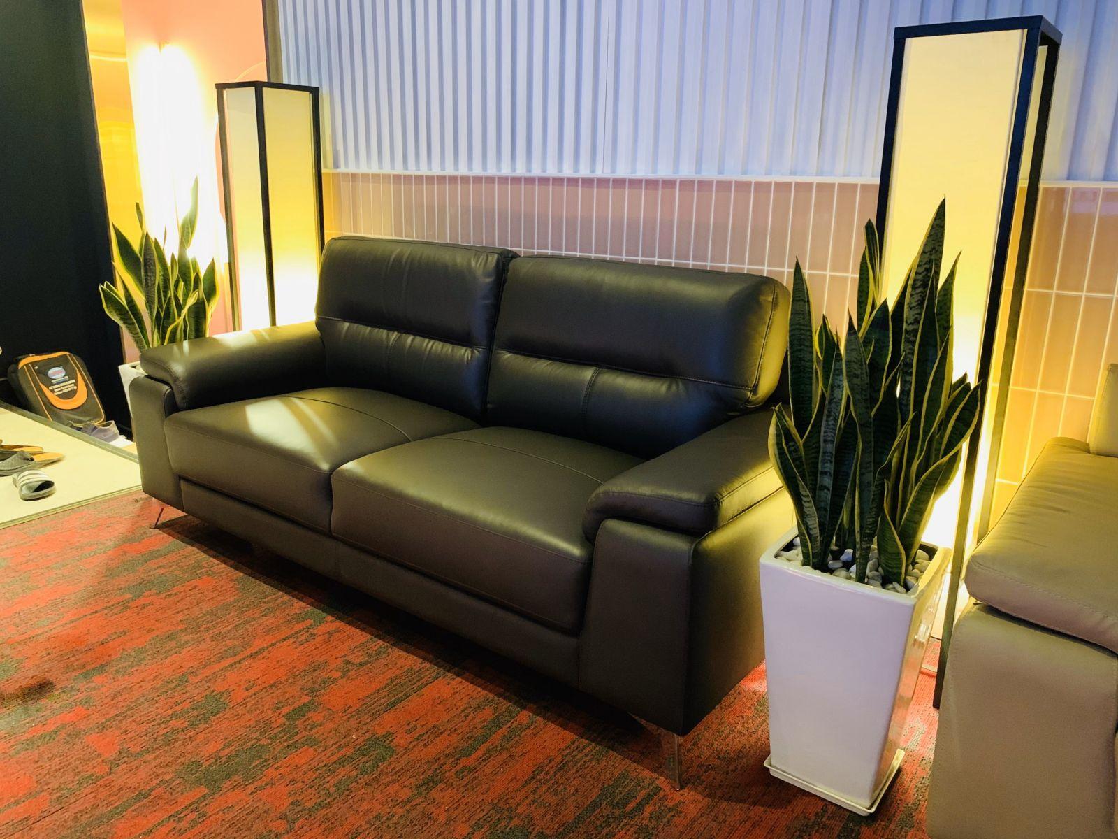 sofa da nhập khẩu 100%