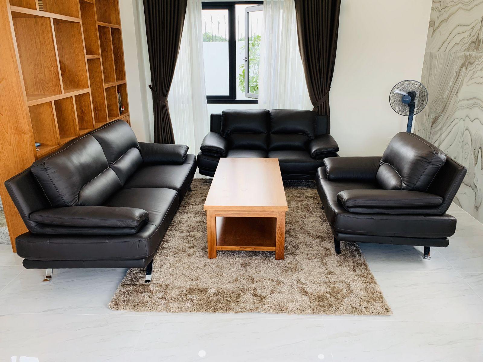 sofa da bò ý cao cấp